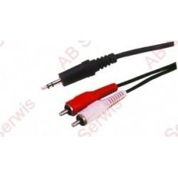 Kabel 2 x RCA/jack 1.8m