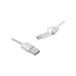 Kabel 2w1 USB -Type-C/micro...