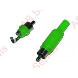 Wtyk RCA zielony plastik
