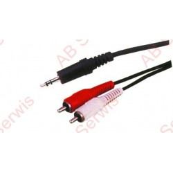 Kabel 3,5 wtyk stereo-2RCA...